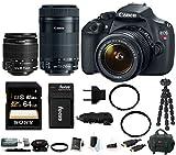 Canon EOS Rebel T5 DSLR Camera w 18-55mm & 55-250mm Lens Bundle
