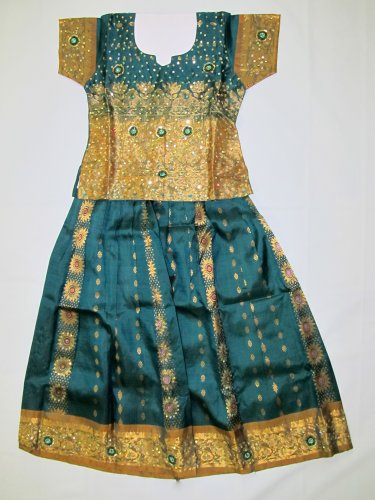 Pure Silk Special Embroidered Dress (7 yrs)