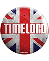 "Geek Details Union Jack Timelord 1"" Mini Pinback Button"