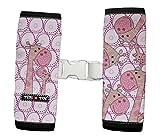 Protector cinturón jirafas rosa