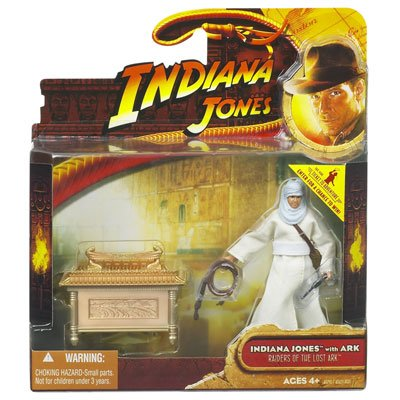 Picture of Hasbro Indiana Jones Deluxe Figure: Indiana Jones with Ark (B0018PZRAY) (Hasbro Action Figures)