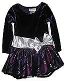 Bonnie Jean Little Girls' Plaid Bow Dress 3T Purple