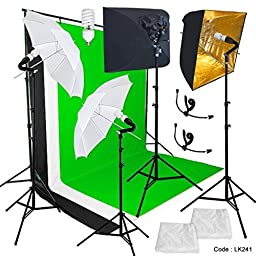 Photography Studio Lighting Video Lighting Photo Lighting Photography Backdrop Stand Background 3 Muslin 9x10 Backdrop Stand Golden Photo Softbox Reflector Kit Linco