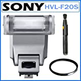 Sony HVL-F20S Flash for Sony NEX Cameras + 49mm Filter + Lens Pen