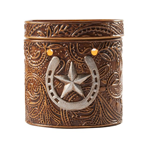 Leather N' Iron Flameless Southern Electric Wax Warmer - One of Best Western Country Aroma Tart Diffusers - Replaces Messy Candles Which Leave Soot and Residue *CLEARANCE ITEM