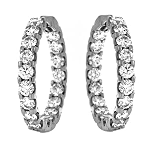CleverEve's 18Kt White Gold Earrings Hoop