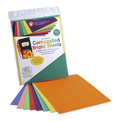 Corrugated Bright Sheets 8/Pkg-Assorted Colors