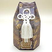 分骨袋(六角) シルビア小花 紫 (高さ15cm×巾9.3cm)◆分骨つぼを納める袋・骨壷・骨壺◆手元供養