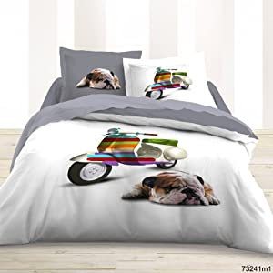 linge de lit parure housse de couette vespa. Black Bedroom Furniture Sets. Home Design Ideas