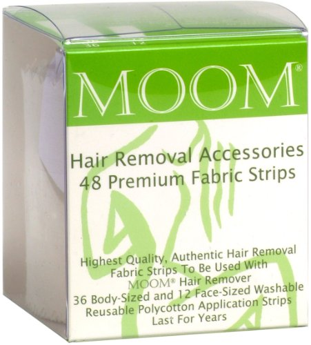 MOOM Hair Removal Accessories -  48 Premium Fabric Strips