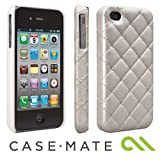 Case-Mate iPhone 4 /4S Madison Quilted Case with Genuine SWAROVSKI Crystal Elements, Cream マディソン キルト 本革レザーケース (スワロフスキー・クリスタル つき), クリーム CM015479