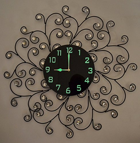 Lulu Decor Black Drop Wall Clock : Lulu decor creeper wall clock decorative metal
