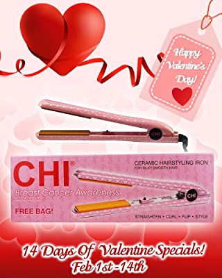 "Best Cheap Deal for Farouk CHI GF1001BC Pink CHI Limited Edition Breast Cancer Awareness Professional Ceramic Hairstyling Iron with GFI Plug and Free CHI Bag, 1"" from Farouk - Free 2 Day Shipping Available"