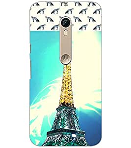 PrintDhaba Tower D-4842 Back Case Cover for MOTOROLA MOTO X PURE EDITION (Multi-Coloured)