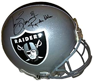 Tim Brown Signed Helmet - Oakland Authentic Raider Nation - Autographed NFL Helmets by Sports Memorabilia