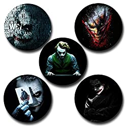 Capturing Happiness Multicolor 5.8cm Batman Joker Badge Pack of 5