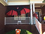 52 in. H Scary Animated Bat Turns Heads Side to Side Airblown Inflatable Halloween Creepy Scary Decor Haunted House Prop Outdoor Yard Decoration
