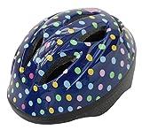 SAGISAKA(サギサカ) Kabuto ジュニアヘルメット SGマーク付 児童用 54-58cm ドットリボンネイビー 46834 46834