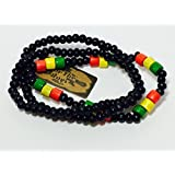 Neptune Giftware Set Of 3 Wood Beads Rasta Surfer Style Elasticated Bracelets