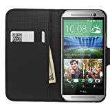 myLife Faux Leather Wallet Phone Case, Black