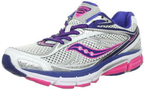Saucony Women's Omni 12 Running Shoe,White/Blue/Pink,5 M US