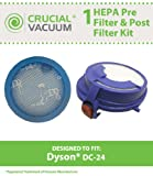 Dyson DC24 Washable & Reusable Pre & Post Filter Replacement Kit Designed To Fit Dyson DC24 Uprights, Compare To Part # 915928-01, 913788-01, Designed & Engineered By Crucial Vacuum