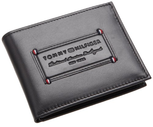 Tommy Hilfiger Mens Passcase, Black, One Size