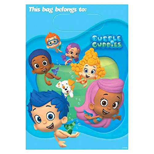Bubble Guppies Treat Bags, Pack of 8, Party Supplies - 1