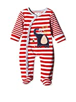 Pitter Patter Baby Gifts Pelele (Rojo / Gris)