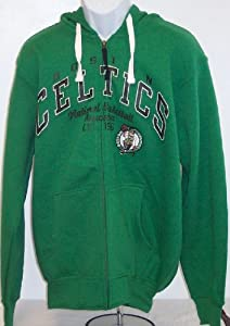 NBA Boston Celtics Adult Hoody Full Zip Hooded Sweatshirt by G-III Sports