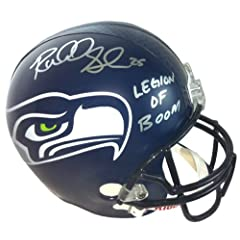 Richard Sherman Autographed Signed Seattle Seahawks Riddell Full Size NFL Helmet with...