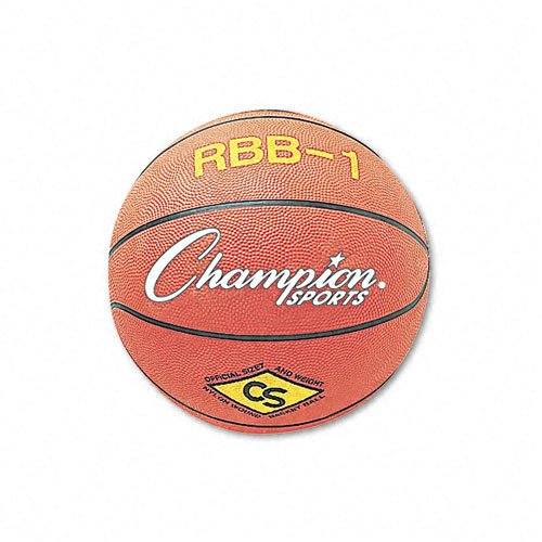 Champion Sports Products - Champion Sports - Basketball, Rubber/Nylon, No. 7 Size, Orange - Sold As 1 Each - Perfect for the playground or sports field. - Water-resistant rubber cover allows play on all surfaces. - Constructed to better retain air under v