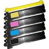 1 Set of 4 Inkfirst® Toner Cartridges TN210BK, TN210C, TN210M, TN210Y Compatible Remanufactured for Brother TN210 Black, Cyan, Magenta, Yellow MFC-9010CN MFC-9120CN MFC-9320CW HL-3040CN HL-3070CW