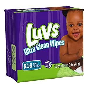 Luvs Ultra Clean Wipes 3x Refills 216 Count (Pack of 4)