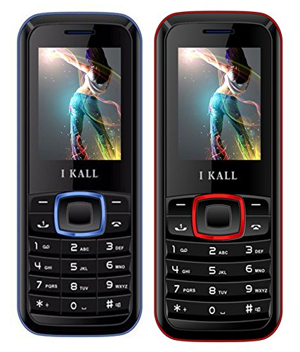 I KALL Dual Sim Calling Mobile K19 Red With K19 Blue Combo