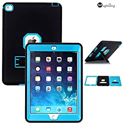 iPad Air 2 Case, iPad 6 Case, MagicSky Heavy Duty Apple iPad Case, Shock-Absorption / High Impact Resistant Rugged Hybrid Dual Layer Armor Defender for iPad with Retina Display (iPad 4th Generation), Full Body Protective Case