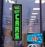 LED Light Box Sign - WE BUY CARS - Neon - Banner alternative, 46