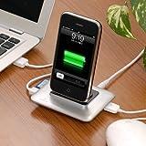 ドックステーション iPod iPhone4 iPhone3GS iPhone3G 用 カードリーダー USBハブ 機能付き 400-IP001