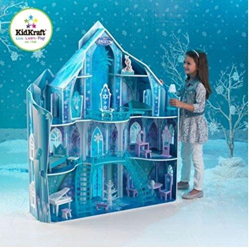 Disney Frozen Snowflake Mansion Dollhouse - 20 Detailed Furniture Pieces (Elsa House compare prices)