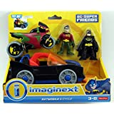 Fisher-Price DC Super Friends Imaginext Batmobile and Cycle Toy