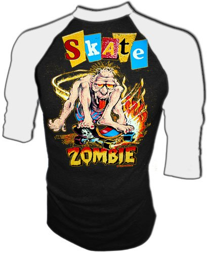 Vintage 80s Skate Zombie Skateboard Authentic Zorlac Style T Shirt NOS Small Reviews
