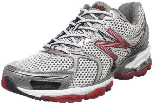 New Balance Men's Silver/Red Trainer M1260RS 7 UK, 7.5 US D