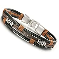 Jstyle Jewelry Men Leather Bracelets…