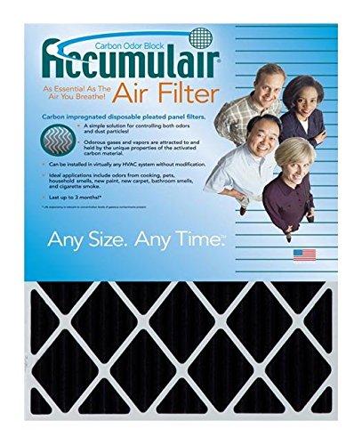 Accumulair Carbon 20x20x2 (19.5x19.5x1.75) Odor eliminating Air Filter/Furnace Filter