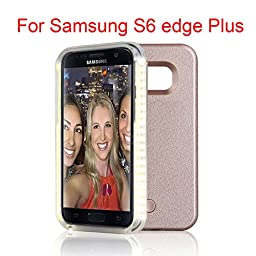 Samsung Galaxy S6 S6 Edge Plus S7 S7 Edge LED lighted Selfie Illuminated Cell Phone Case for s7 edge+ (S6 Edge Plus rose gold)