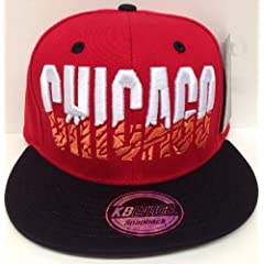 Chicago Red & Black Elephant Print Underbill Snapback Hat Cap by KB Ethos