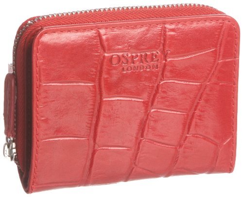 Osprey London Womens The Small Gaumont Spring Croc Strawberry