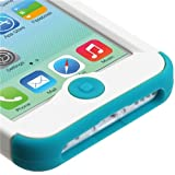Product B00GOJ1IS4 - Product title MyBat iPhone 5C TUFF Hybrid Phone Protector Cover - Retail Packaging - White/Teal