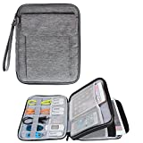 Damero Electronics Organizer with 9.7'' iPad Sleeve Case/ Travel Accessories Bag for Passport, Business Cards & Document Case, Dark Gray