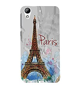 Eiffel Tower Painting 3D Hard Polycarbonate Designer Back Case Cover for HTC Desire 728G Dual Sim::HTC Desire 728G::HTC Desire 728